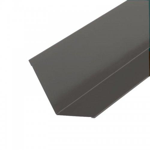 Планка примыкания для гибкой черепицы, серая (RAL 7004) (2 м)