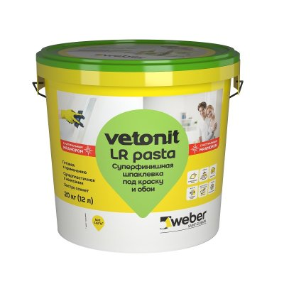 Шпаклевка готовая суперфинишная Weber vetonit LR pasta (20 кг)