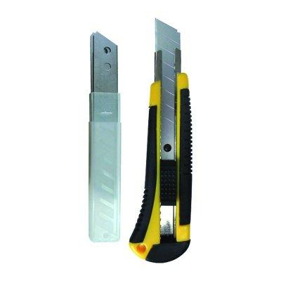Нож строительный усиленный 18 мм+3 запасных лезвия