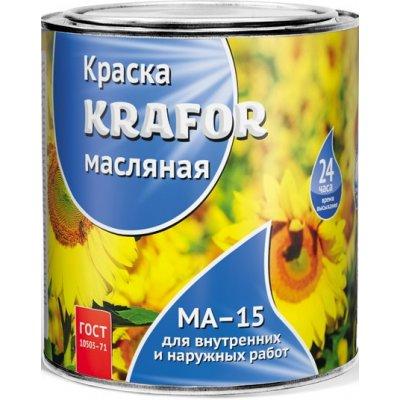 Краска МА-15 черная 2,5кг Krafor