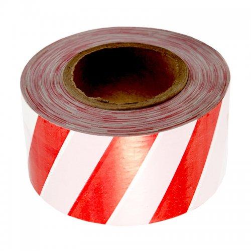 Лента сигнальная бело-красная 50мм 200м