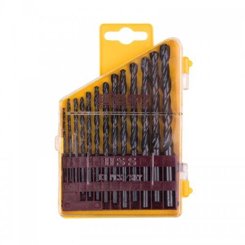 Набор сверл по металлу 1,5-6,5 мм (13 шт) Biber