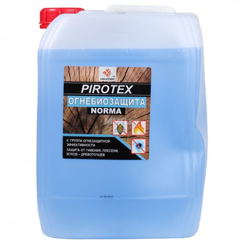 Огнебиозащита 2 группа голубой индикатор Pirotex (10л)