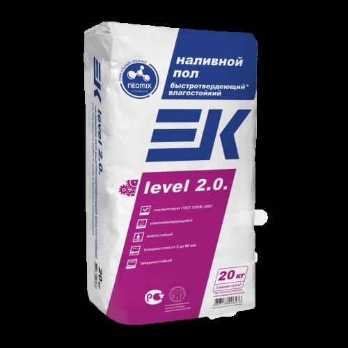 Наливной пол влагостойкий быстротвердеющий EK level 2.0 5-80мм (20кг)