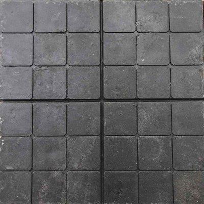 Плитка тротуарная Полимерпесчаная Черная 330х330х30