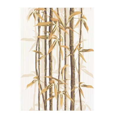 Декор 250х350х8 мм Березакерамика Ретро бамбук 2 коричневый