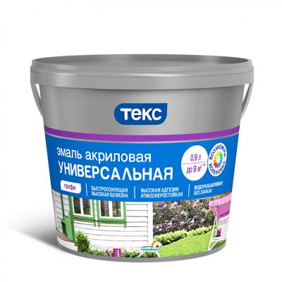 """Эмаль акриловая универсальная """"ПРОФИ"""" глянц. 2,7л ТЕКС"""