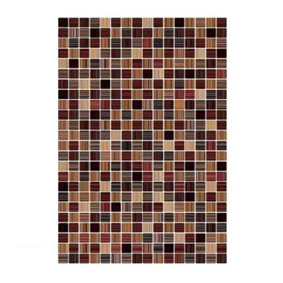 Плитка настенная 400х275х7,5 мм КЕРАМИН Гламур 3Т коричневая