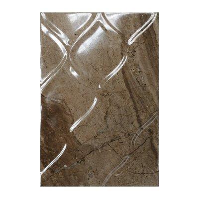 Плитка настенная 400х275х7,5 мм КЕРАМИН Мокка 3Т рельеф коричневая