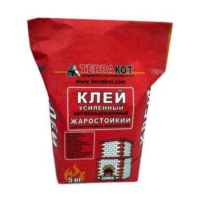Клей для плитки термостойкий усиленный ТЕРРАКОТ (5кг)