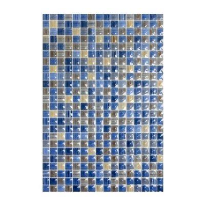 Плитка настенная 400х275х7,5 мм КЕРАМИН Гламур 2Т голубая