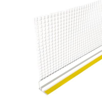 Профиль ПВХ примыкающий оконный с армирующей сеткой, стандарт, 6мм (2,4м)