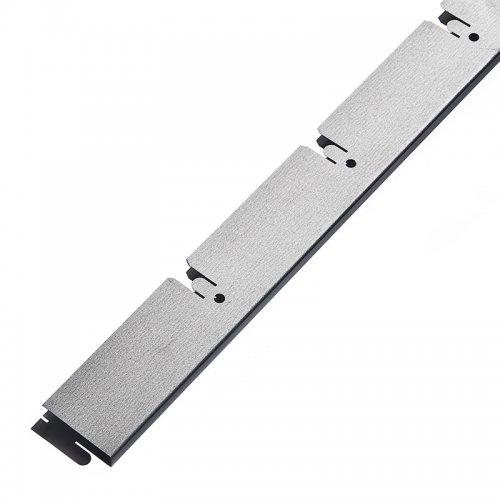Грильято 100х100мм несущая направляющая L=600мм, h=40мм, метал. серебристый
