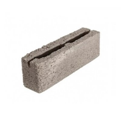 Блок 2-х Пустотный Керамзитобетонный Перегородочный 400х200х100
