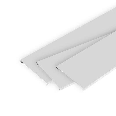 Набор реечного потолка 2х1 м S150 белый жемчуг с мет. полосой