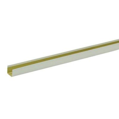 П-профиль алюмин. 14х14х3000 мм белый жемчуг