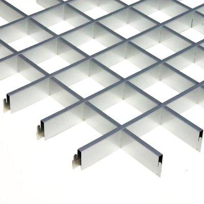 "Грильято 100х100мм элемент решётки ""мама"" L=600мм, h=40мм, метал. серебристый"