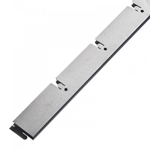 Грильято 100х100мм несущая направляющая L=2400мм, h=40мм, метал. серебристый