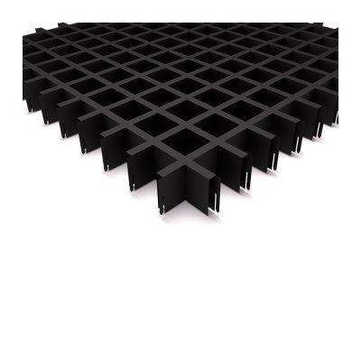 """Грильято 50х50мм элемент решётки """"папа"""" L=600мм, h=40мм, черный"""