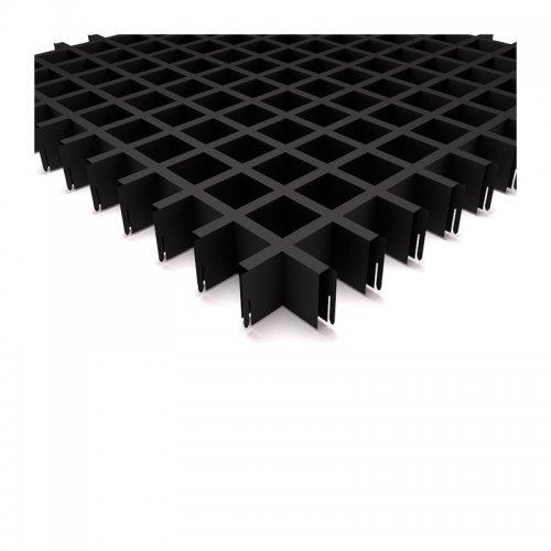 "Грильято 50х50мм элемент решётки ""мама"" L=600мм, h=40мм, черный"