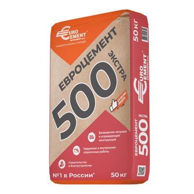 Цемент Евроцемент М500 Д0 (ЦЕМ I 42,5) 50 кг