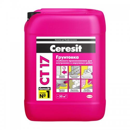 Грунтовка глубокого проникновения церезит Ceresit CT17 (10 л)