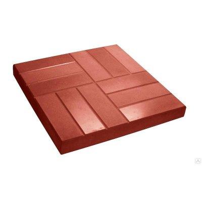 Плитка тротуарная 12 кирпичей 500х500х50 красная