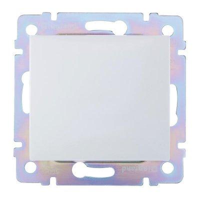 Выключатель в рамку с/у, 2 клавиши, б/инд. 10А, 230В, IP20, керамика, белый