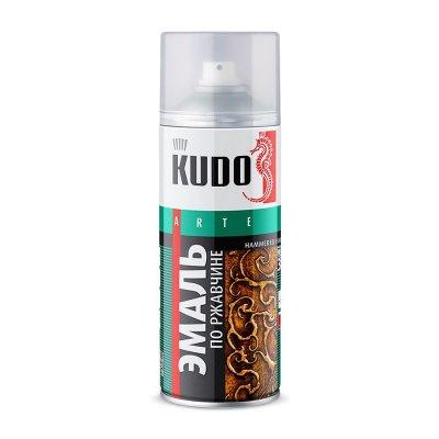 Эмаль по ржавчине Kudo KU-3009 молотковая чёрно-бронзовая (0,52 л)