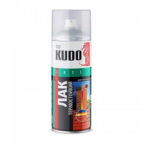 Лак аэрозольный термостойкий КУДО KU-9006 (0,52л)
