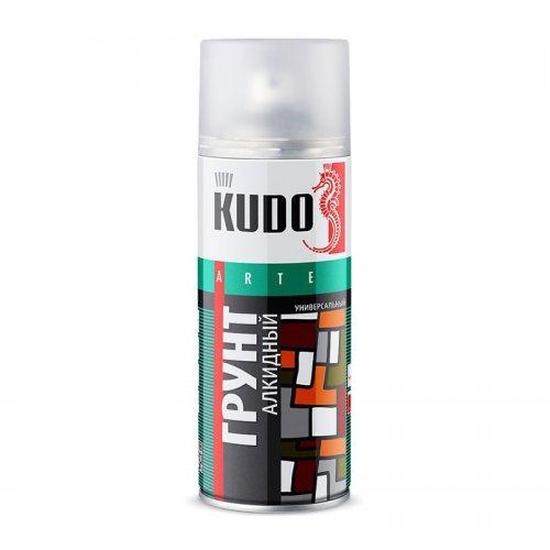 Грунт аэрозольный универсальный алкидный серый КУДО KU-2001 (0,52л)
