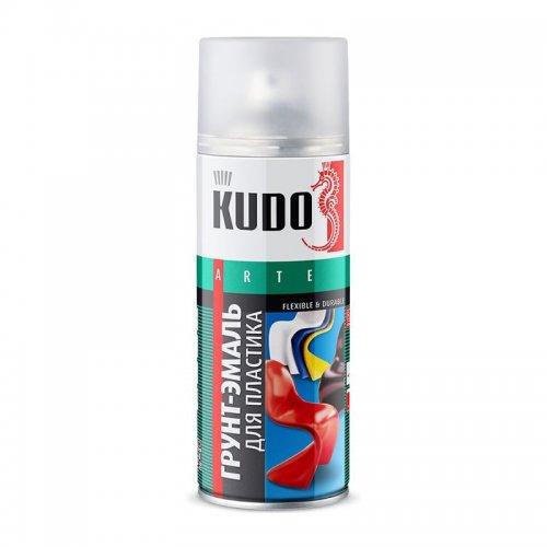 Грунт-эмаль для пластика белая аэрозольная КУДО KU-6003 (0,52л)