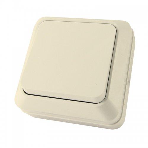 Выключатель о/у, 1 клавиша, б/индикации, 10А, 230 В, IP20, слоновая кость