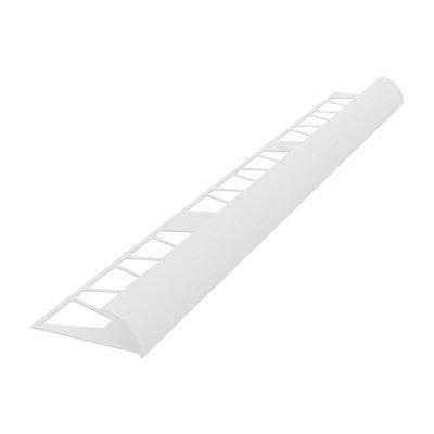 Раскладка-уголок под плитку 7-8 мм (наруж) 2,5 м белая