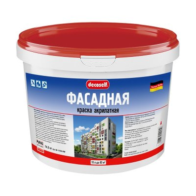 Краска в/д фасадная Pufas Decoself A (10 л=15,8 кг)