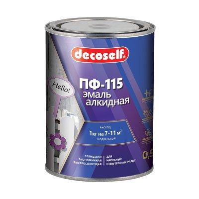 Эмаль Pufas Decoself ПФ-115 черная (0,9 кг)