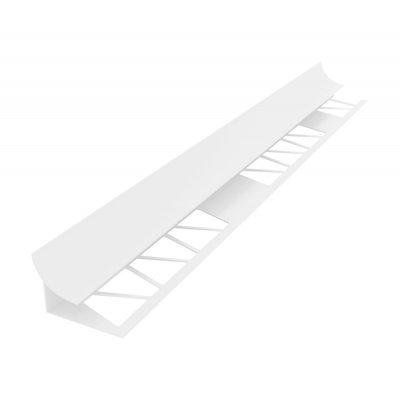 Раскладка-уголок под плитку 7-8 мм (внутр) 2,5 м белая