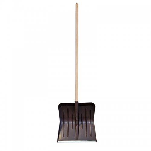 Лопата снеговая МЕТЕЛИЦА 430х440мм с деревянным черенком