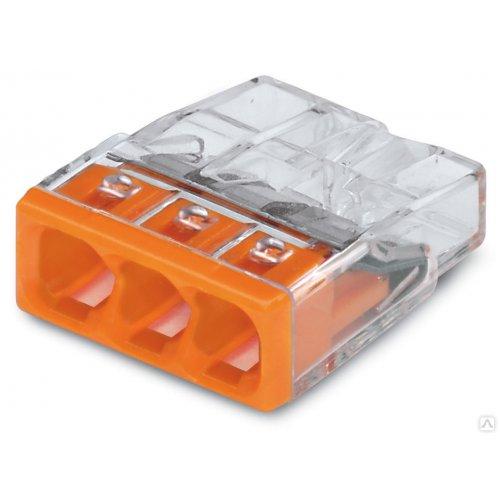 Колодка клеммн. WAGO 3-х проводная (0,5-2,5мм2) паста