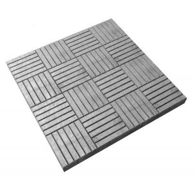 Плитка тротуарная Паркет серая 300х300