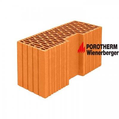 Керамический поризованный угловой блок Porotherm 44 R Wienerberger