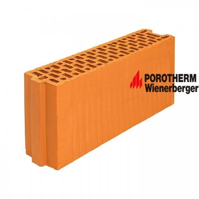 Керамический поризованный блок для перегородок Porotherm 12 Wienerberger