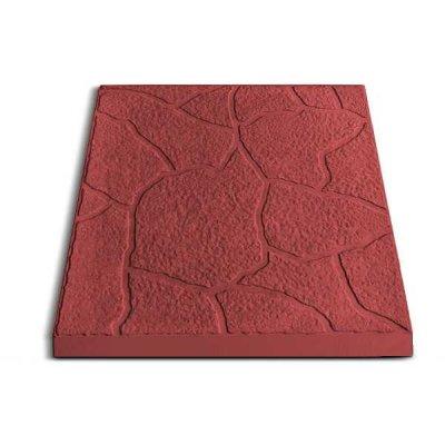 Плитка тротуарная Песчаник красная 300х300