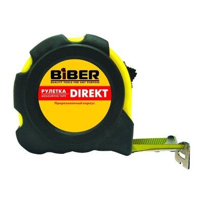 Рулетка 5м/19мм обрезиненный корпус Biber