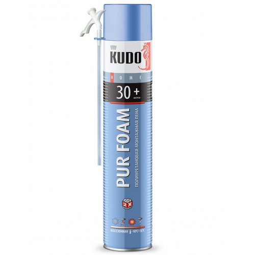 Пена монтажная KUDO HOME 30+ 1000мл/600г всесезонная