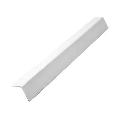 Уголок периметральный (Пристенный кант) 19x19 мм, белый, 3 м
