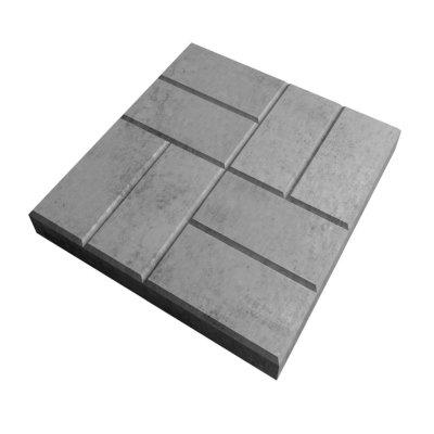 Плитка тротуарная 8 Кирпичей серая 400х400