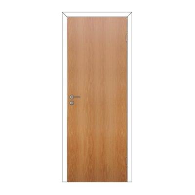 Полотно дверное Олови 900х2000 Миланский орех, глухое, с замком 2014