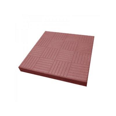 Плитка тротуарная Паркет красная 300х300
