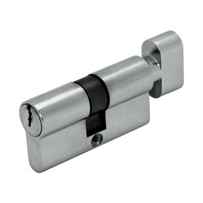 Цилиндр DIN ключ/завертка SCHLOSS (30+30) S 60 Cr хром